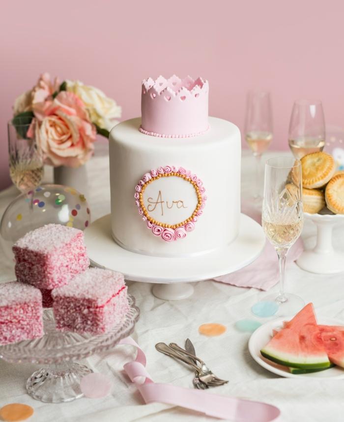 Decoration gateau chateau gateau pour petite fille gateaux de princesse couronne rose pour fille anniversaire