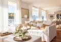 Salon blanc et beige – un coin douillet et paisible dominé par les neutres