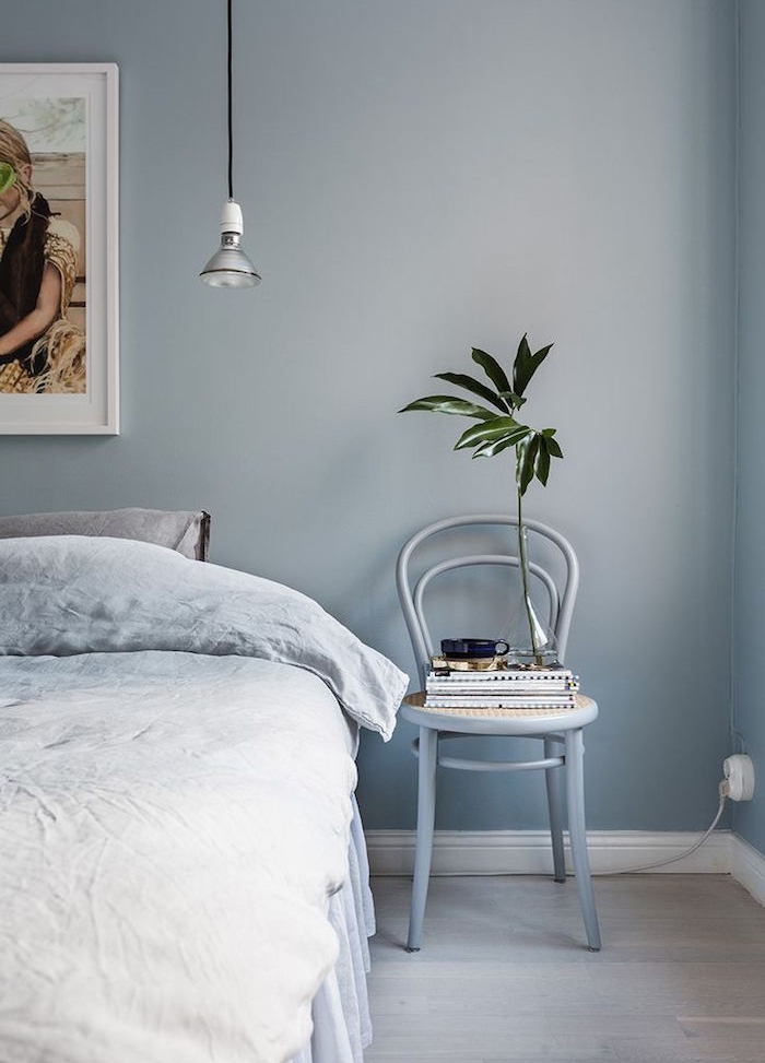 quelle couleur associer au gris perle dans une chambre