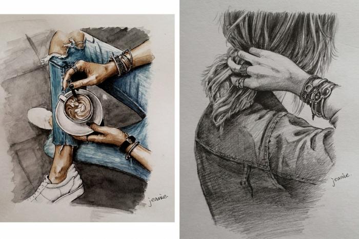 Admirable technique dessiner bien image de fille dessin photo fille ado