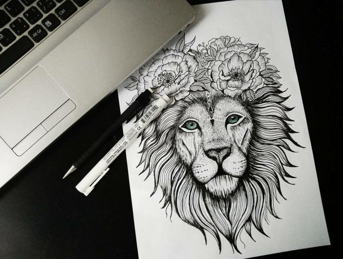Tatouage lion couronne - Tatouage lion epaule ...