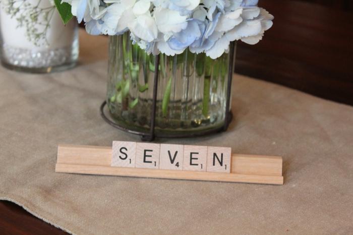 Marque place noel a faire soi meme décoration de table scrabble jeu avec lettres