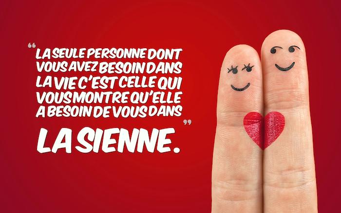 proverbe amour, idée originale pour un fond d'écran à design amoureux, tatouage visage sur les doigts