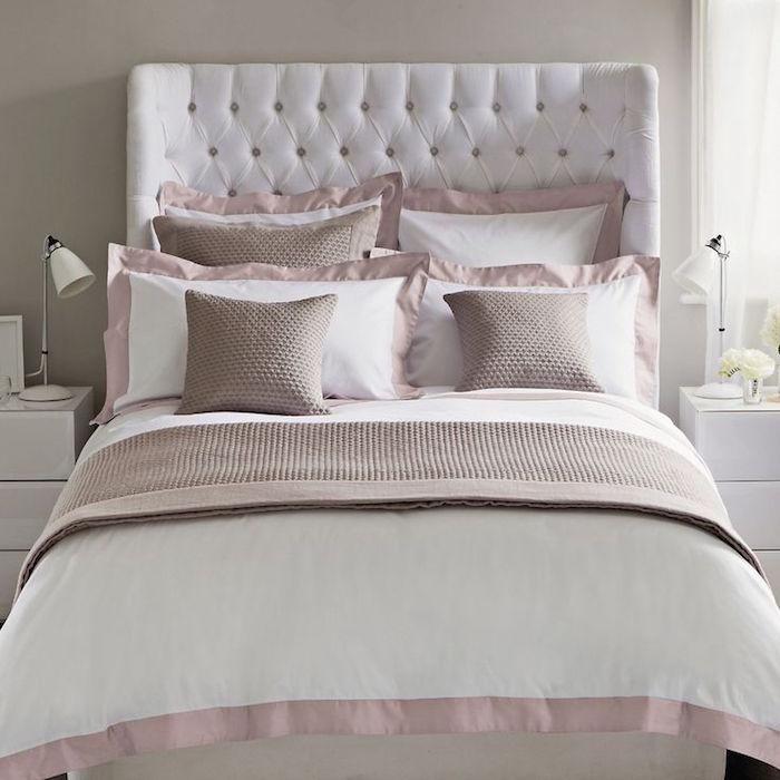 beautiful chambre taupe et rose images design trends. Black Bedroom Furniture Sets. Home Design Ideas