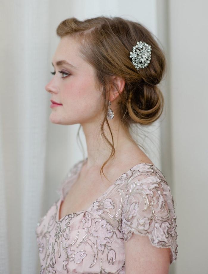 idée coiffure femme mariage demoiselle honneur vintage