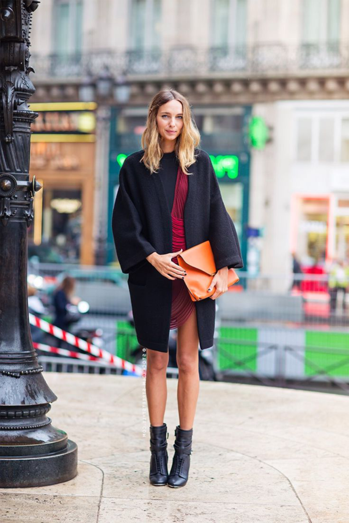 robe avec bottines plates