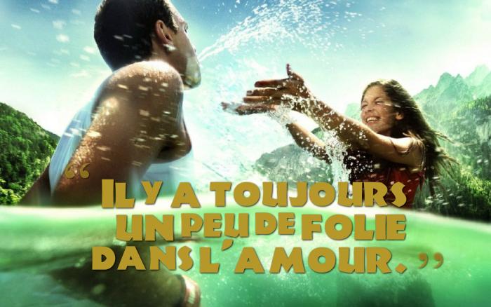 citation sur l amour, forêt et montagnes verts, jouer dans l'eau, nature vert et couple amoureux
