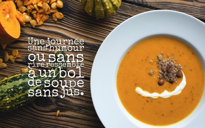 expression drole, préparation soupe aux légumes, photo amusante avec citation courte