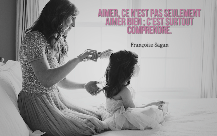 citation amour, adorable photo d'une mère et sa petite fille, habiller sa fille comme princesse