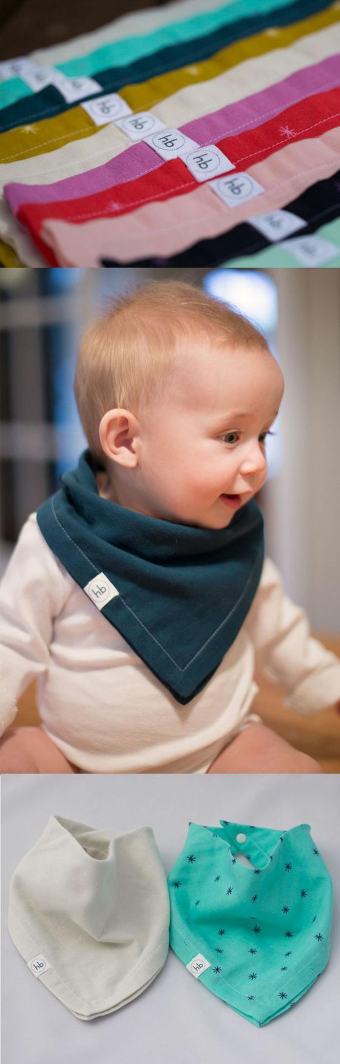 cadeau naissance personnalisé bandanas en couleurs diverses pour changer souvent de look