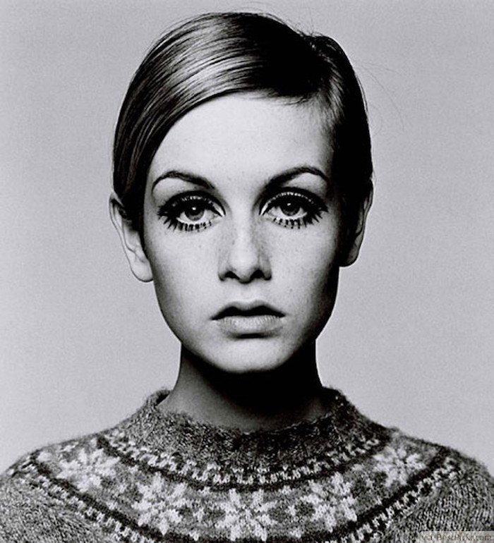 twiggy angleterre années 60s coupe femme courte plaque