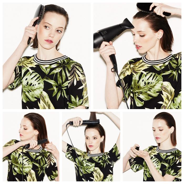 tuto étape par étape pour réaliser une coiffure simple et rapide avec des cheveux plaqués en arrière