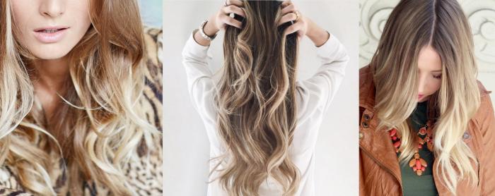 balayage blond, coiffure pour cheveux longs avec la technique balayage, blouse kaki avec collier en orange