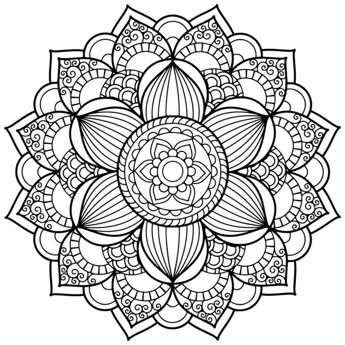 Comment Faire Un Coloriage Anti Stress.1001 Dessins De Mandala A Imprimer Et A Colorer