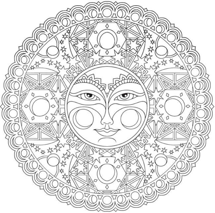 1001 dessins de mandala imprimer et colorer - Dessin de soleil a imprimer ...