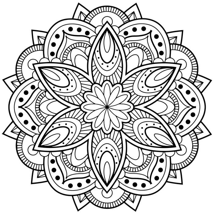 lchez prise avec nos modles de dessins mandala imprimer et colorier - Dessin De Mandala