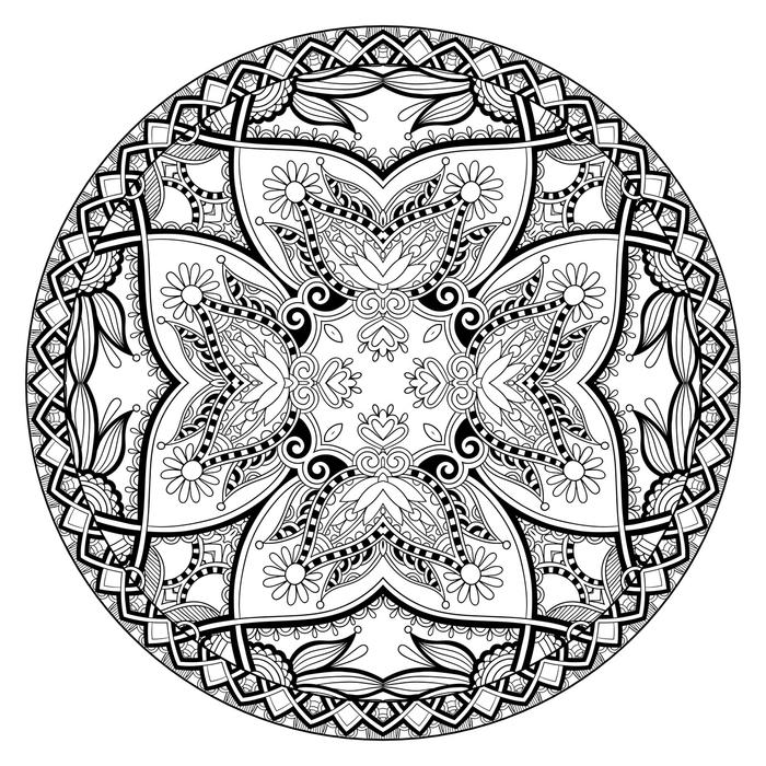 Coloriage A Imprimer De Mandala.1001 Dessins De Mandala A Imprimer Et A Colorer