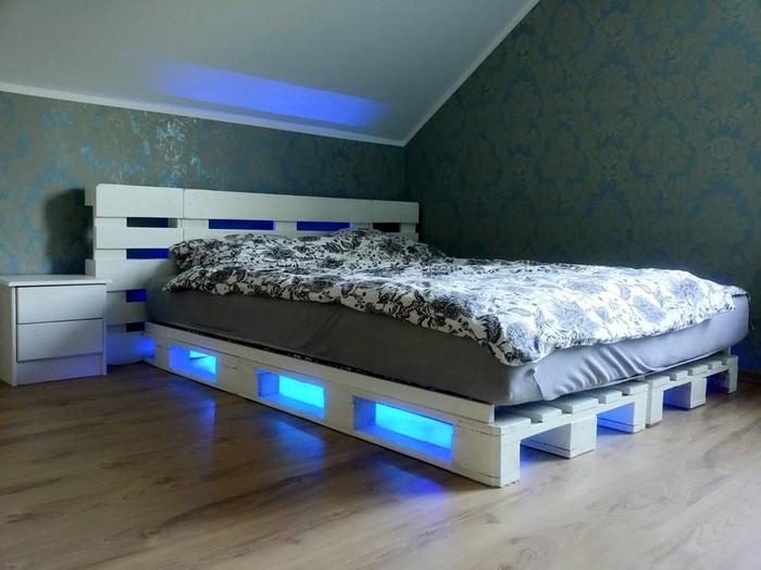 1001 id es comment fabriquer un lit avec des palettes - Comment faire un couvre lit matelasse ...