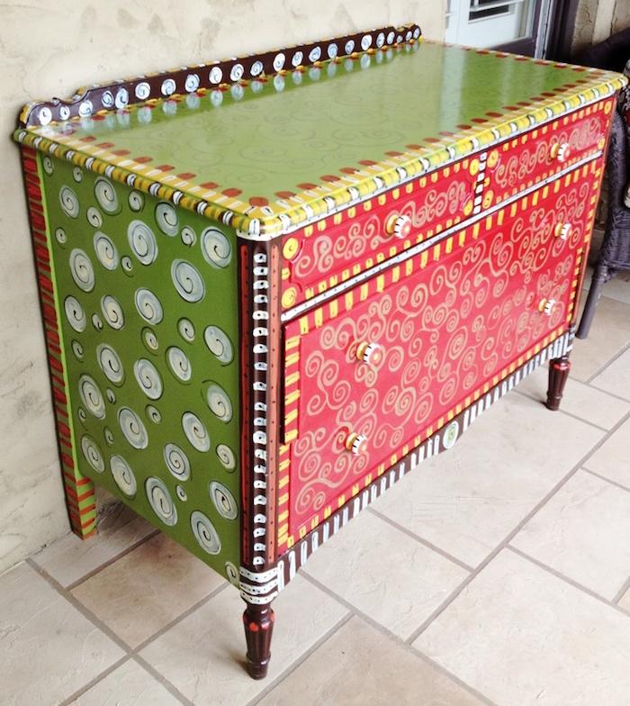 peindre des meubles badigeon meuble renover commode avec peinture originale idées