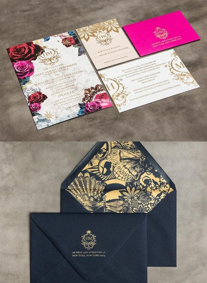 Annonce mariage faire part princesse dessin chateau disney fleurs sur l invitation
