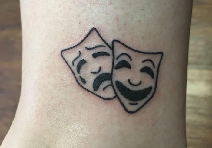 idée petit premier tatouage bien mal carnaval venise