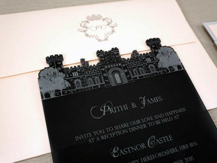 Amour mariage faire part mariage disney idée invitation chateau faire part original