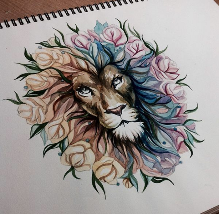Lion tatoo the lion tattoo idée lion art tattoo loin tatoo lion tattoo portrait coloré