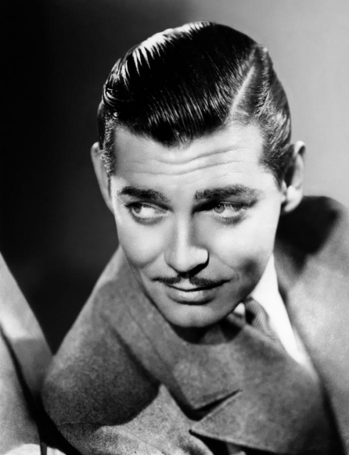 coiffure homme vintage style Clark Gable en arriere gominé