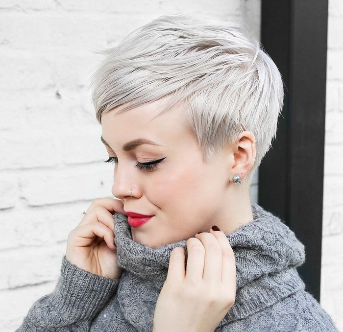 Coupe de cheveux courte pixie