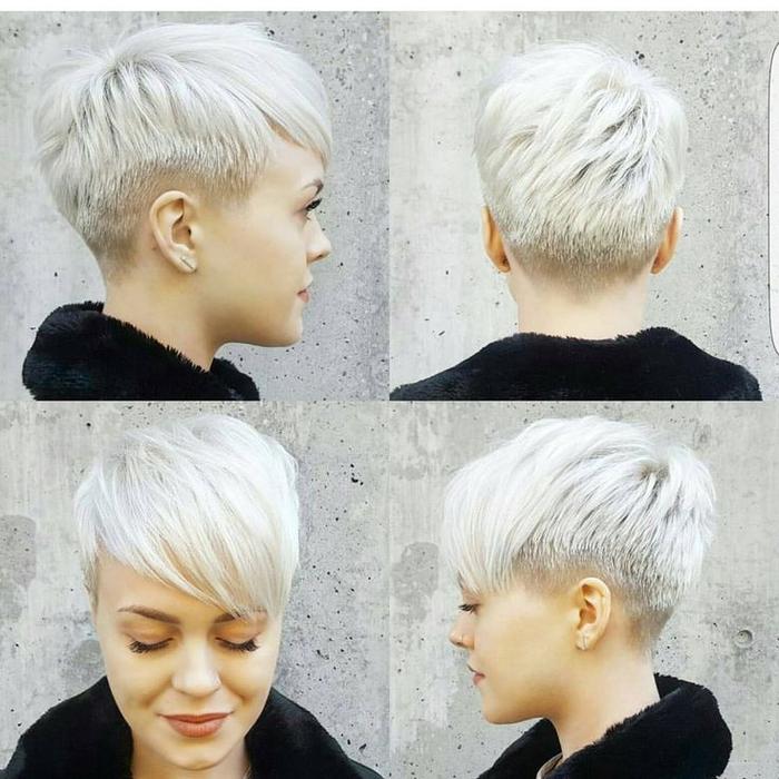 Coupe courte cheveux boucles epais