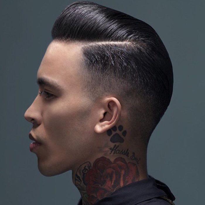 coupe pompadour rockabilly banane vintage dégradé américain coiffure hipster homme