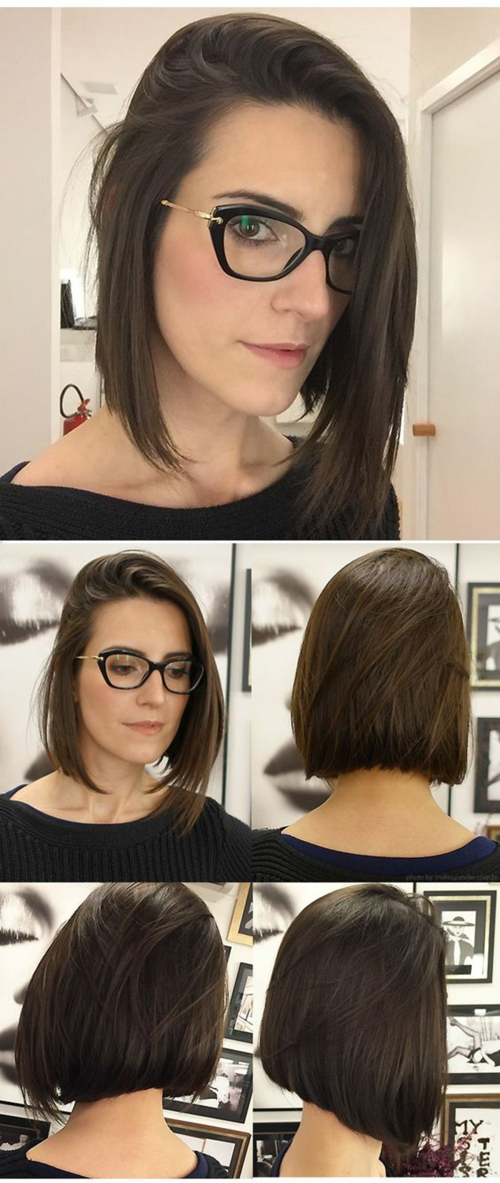 quelle coupe de cheveux bob long carré aux mèches devant effilées femme stylée