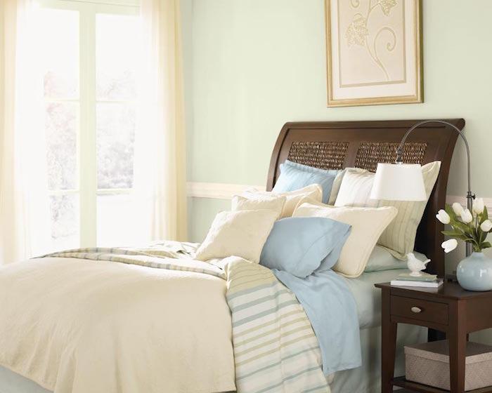 idées associer couleurs claires style beige clair taupe et vert et lin