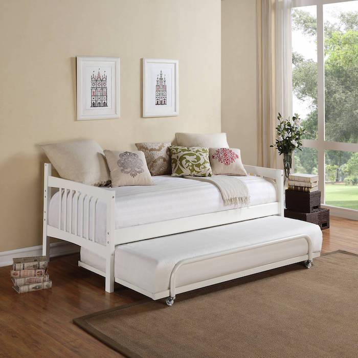 peinture pour chambre couleur taupe et lin et blanc