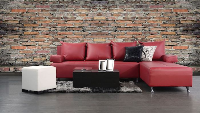 canap rouge et noir canap sofa divan canape fixe malina noir rouge places with canap rouge et. Black Bedroom Furniture Sets. Home Design Ideas