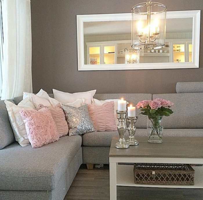 Idee deco salon gris et rose for Deco rose et gris