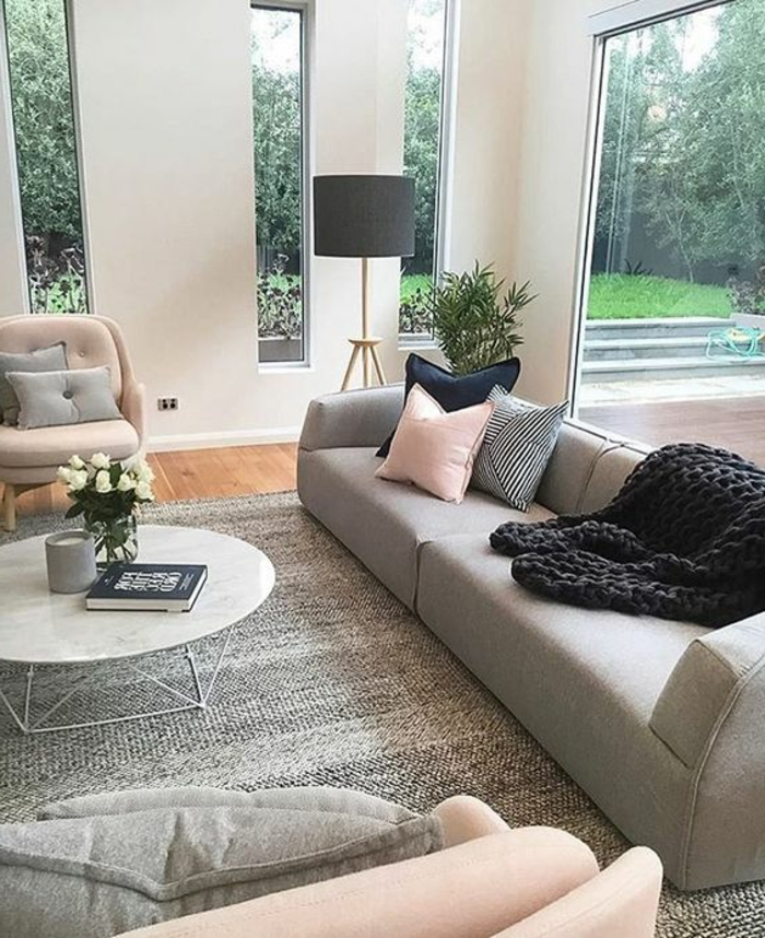 Decoration Salon Moderne Gris | Flisol Home