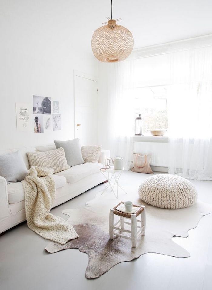 décoration nordique et deco suedoise dépouillée salon scandinave