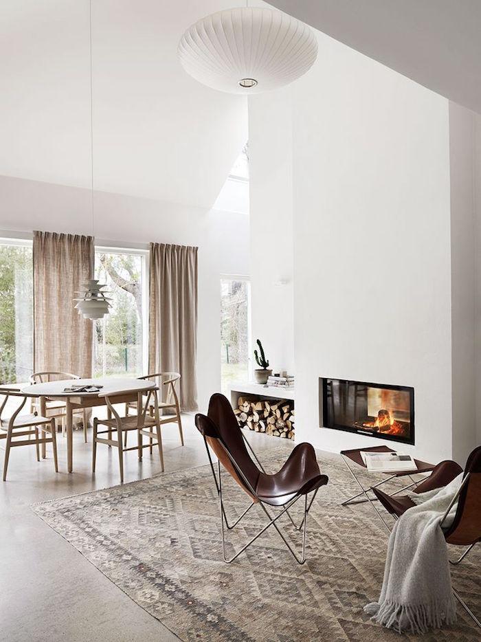 décoration nordique séjour et deco suedoise minimaliste épurée