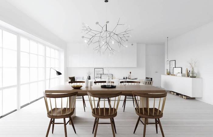 salon nordique et idee deco scandinave minimaliste blanc bois