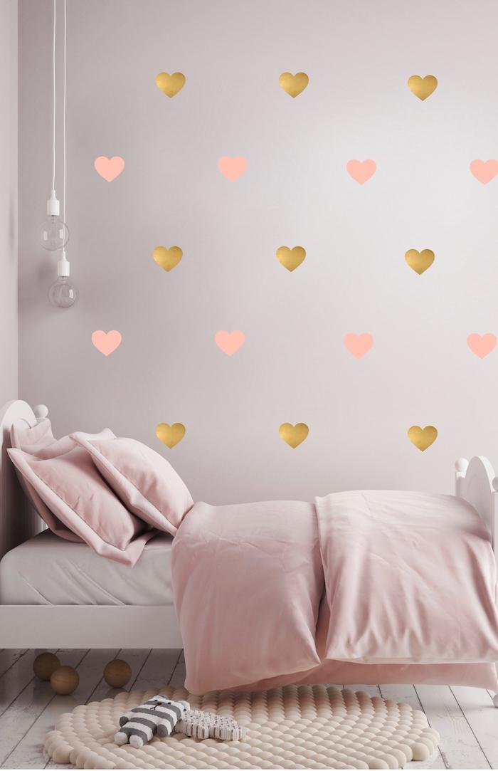 Decoration rose et or for Serviteur chambre
