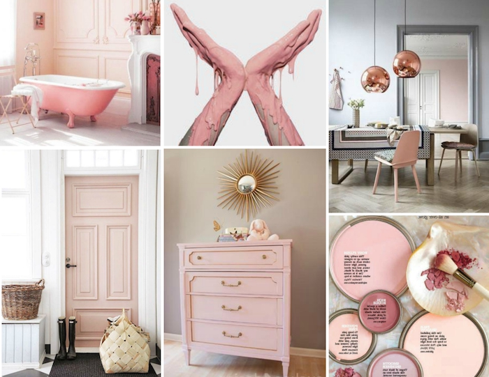 100 conseils et id es pour int grer le rose pastel dans. Black Bedroom Furniture Sets. Home Design Ideas