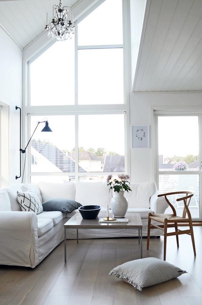 1001 id es salon nordique minimalisme et chaleur venus du froid. Black Bedroom Furniture Sets. Home Design Ideas