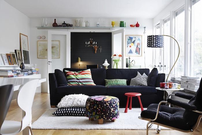 idées deco esprit scandinave de style nordique séjour suédois