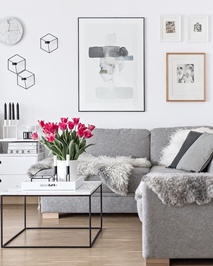 nappe nordique deco murale scandinave meuble suédois design blanc gris