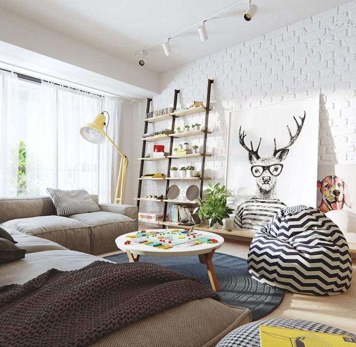 Nappe nordique et deco murale scandinave ou meuble scandinave design salon