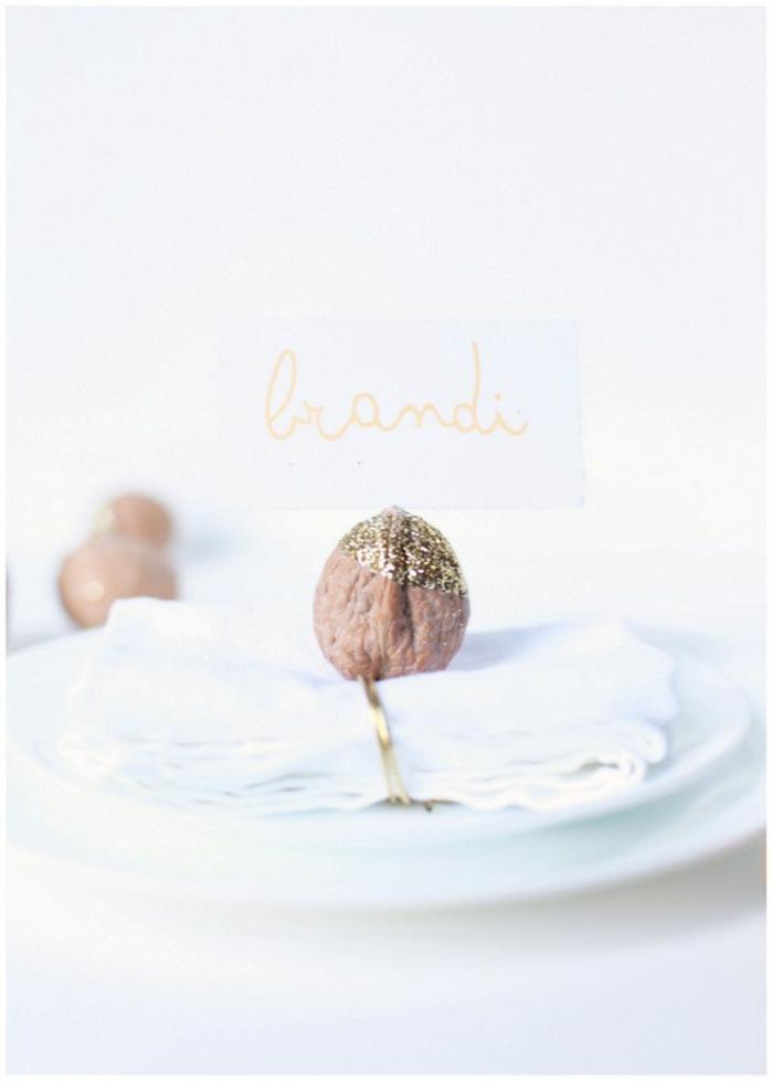 Votre nom de table mariage etiquette de table idée déco fête idee