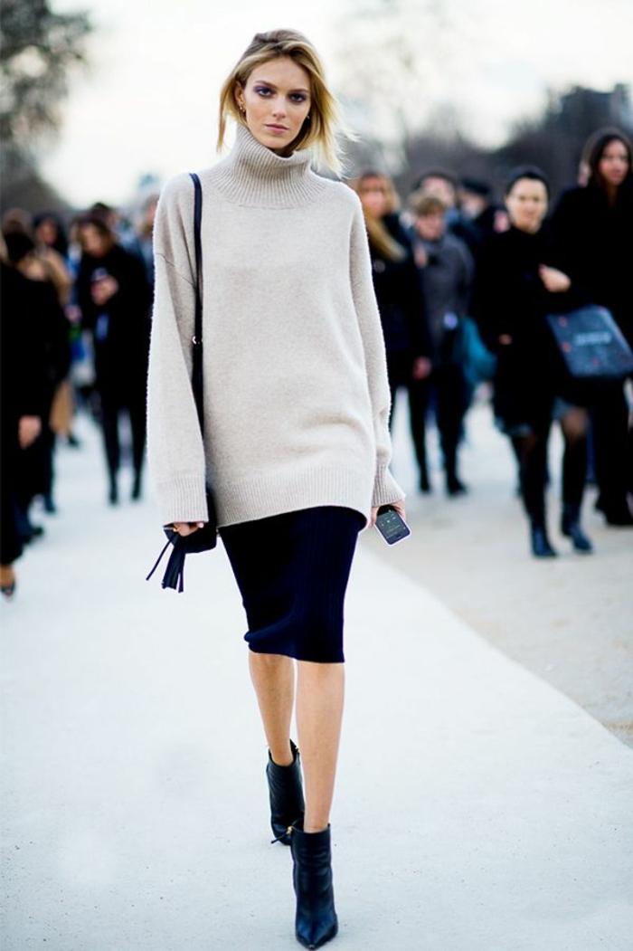 Quelle couleur avec le camel jupe et bottes porter des bottines femme jupe noire