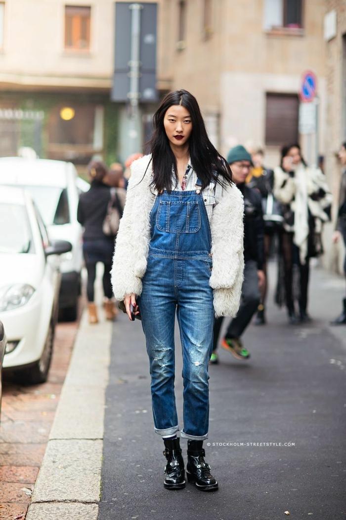 Magnifique idée tenue bottine a talon epais que mettre avec un jean noir salopette jean cool