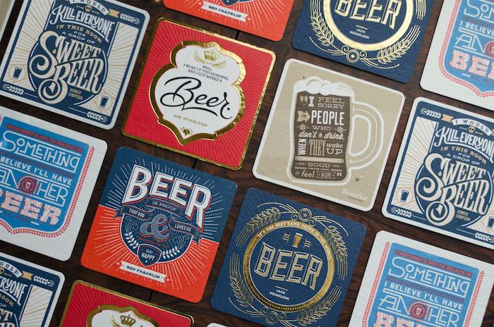 idee cadeau homme, des sous verres personnalisés pour les amateurs de la bière, quoi offrir pour la fete des papy